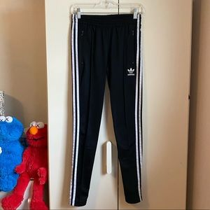Adidas Skinny Side Zip Track Pants